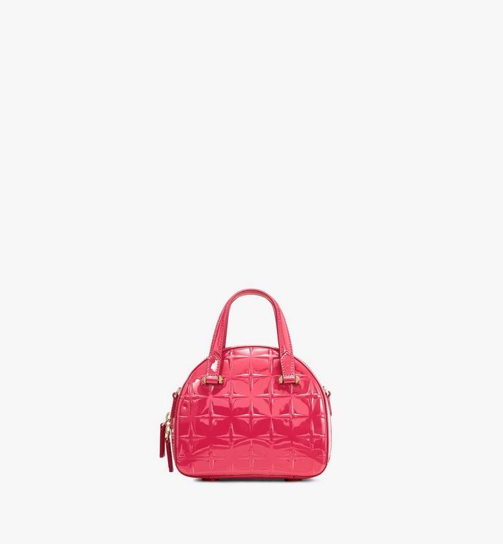 MCM Mini Essential Half Moon Tote in Diamond Patent Leather Pink MWTASSE15QE001 Alternate View 3