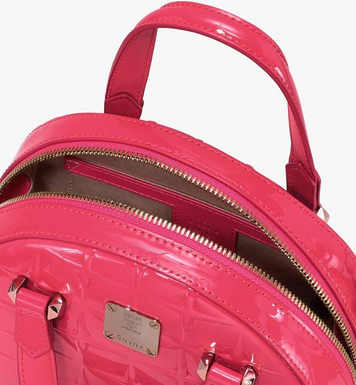 MCM Mini Essential Half Moon Tote in Diamond Patent Leather Pink MWTASSE15QE001 Alternate View 4