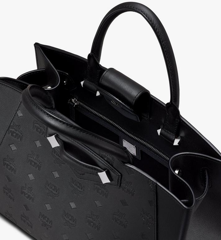 MCM Sac fourre-tout Essential en cuir monogrammé Black MWTASSE16BK001 Alternate View 4