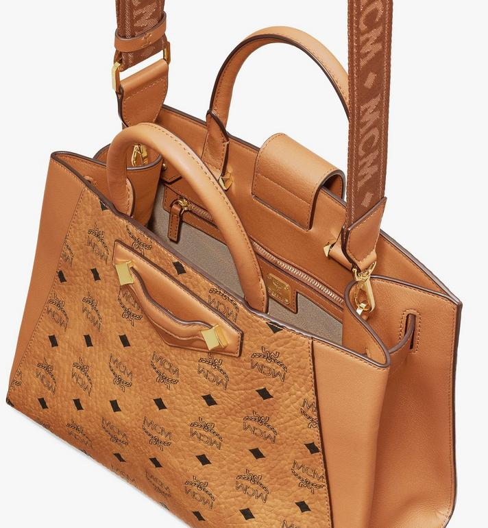 MCM Essential Tragetasche in Visetos Original Cognac MWTASSE17CO001 Alternate View 4