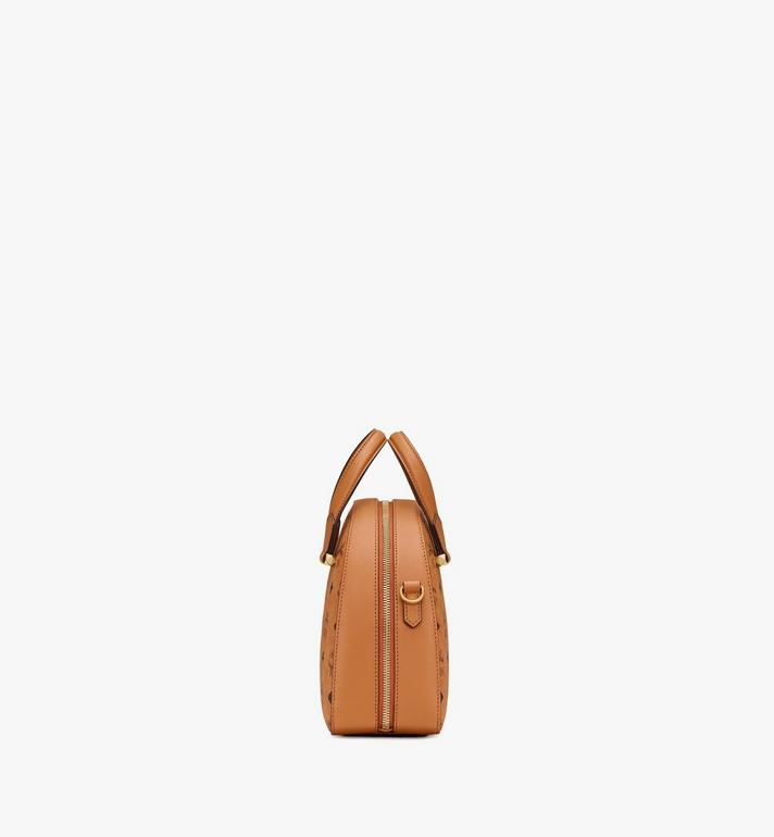 MCM Essential Tragetasche in Visetos Original in Form eines Halbmonds Cognac MWTASSE19CO001 Alternate View 2