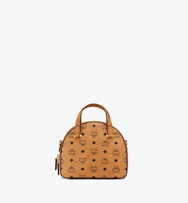 MCM Essential Tragetasche in Visetos Original in Form eines Halbmonds Cognac MWTASSE19CO001 Alternate View 3