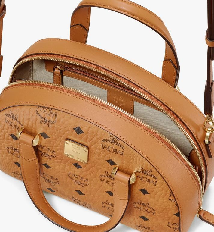 MCM Essential Tragetasche in Visetos Original in Form eines Halbmonds Cognac MWTASSE19CO001 Alternate View 4