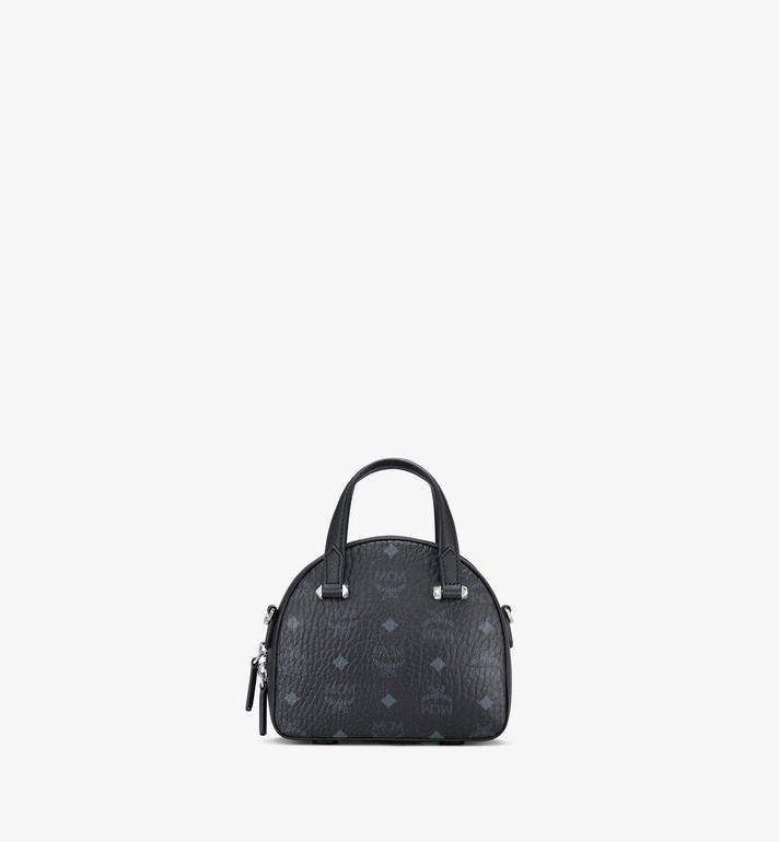 MCM Mini Essential Half Moon Tote in Visetos Original Black MWTASSE20BK001 Alternate View 3