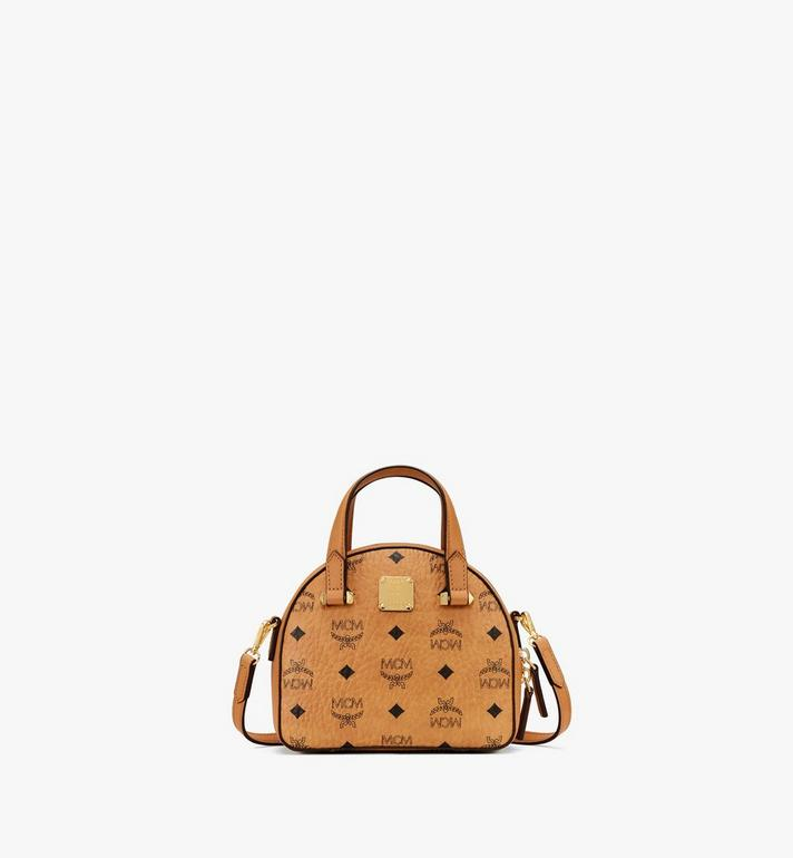 MCM Mini Essential Half Moon Tote in Visetos Original Alternate View