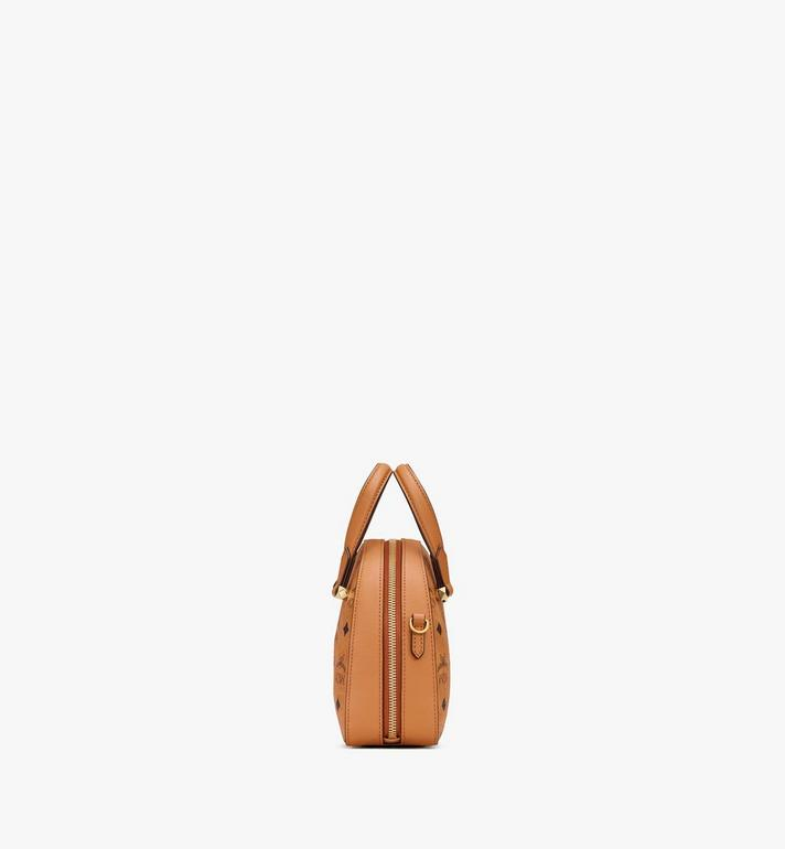 MCM Mini Essential Half Moon Tote in Visetos Original Cognac MWTASSE20CO001 Alternate View 2