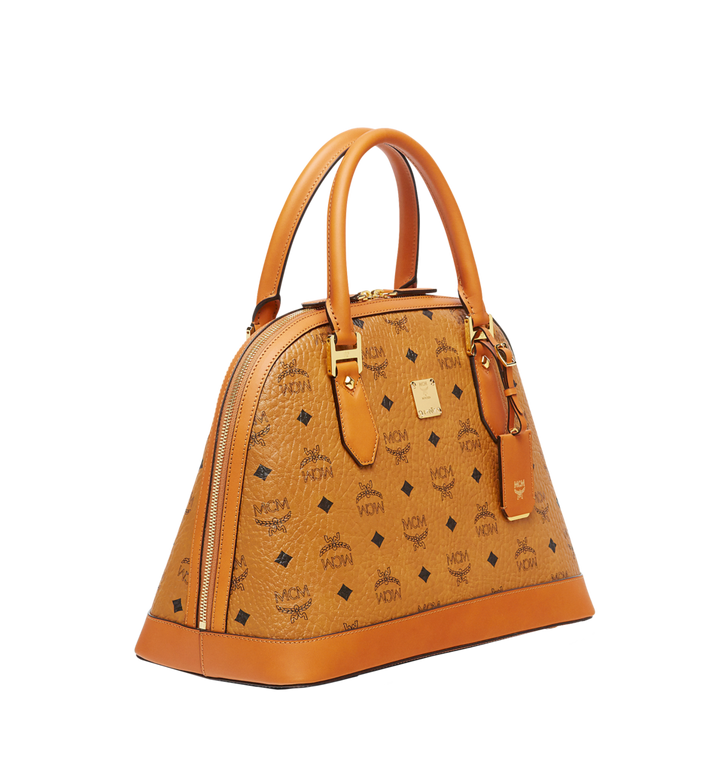 MCM Sac bowling Heritage en Visetos Cognac MWW6AVI30CO001 Alternate View 2