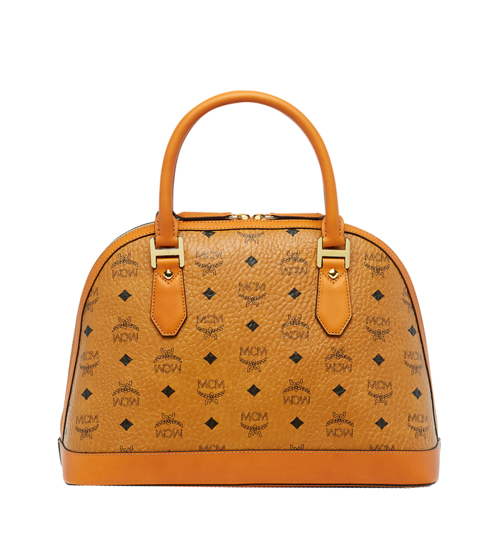 MCM Sac bowling Heritage en Visetos Cognac MWW6AVI30CO001 Alternate View 4