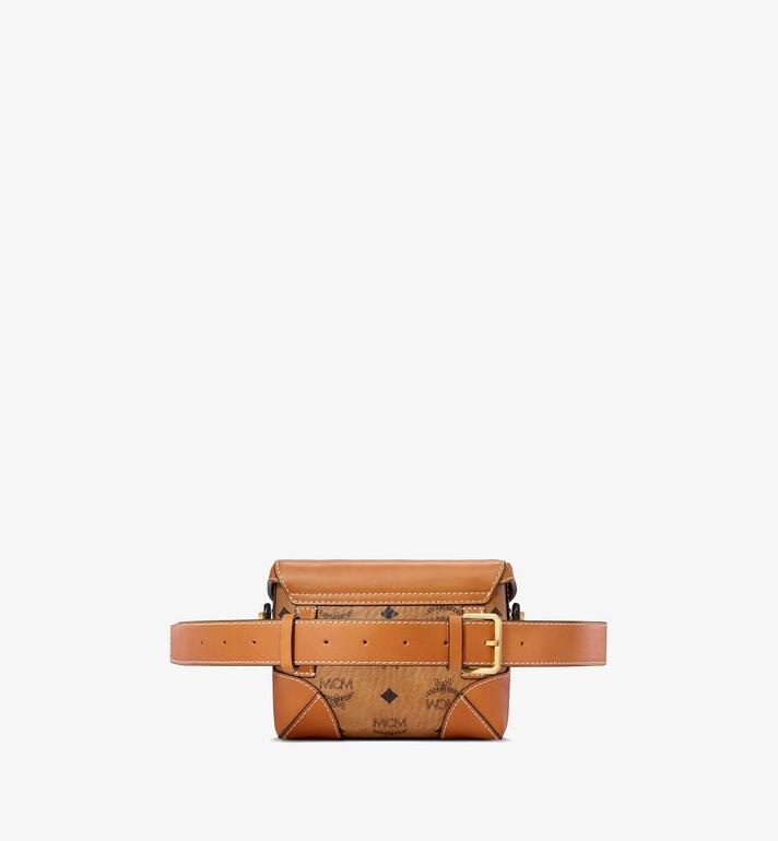 MCM Soft Berlin Belt Bag in Visetos Cognac MWZ8ABF13CO001 Alternate View 4
