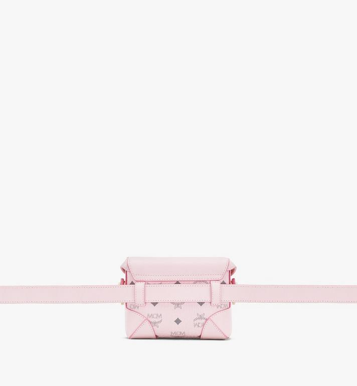 MCM Soft Berlin Belt Bag in Visetos Pink MWZ8ABF13QH001 Alternate View 3