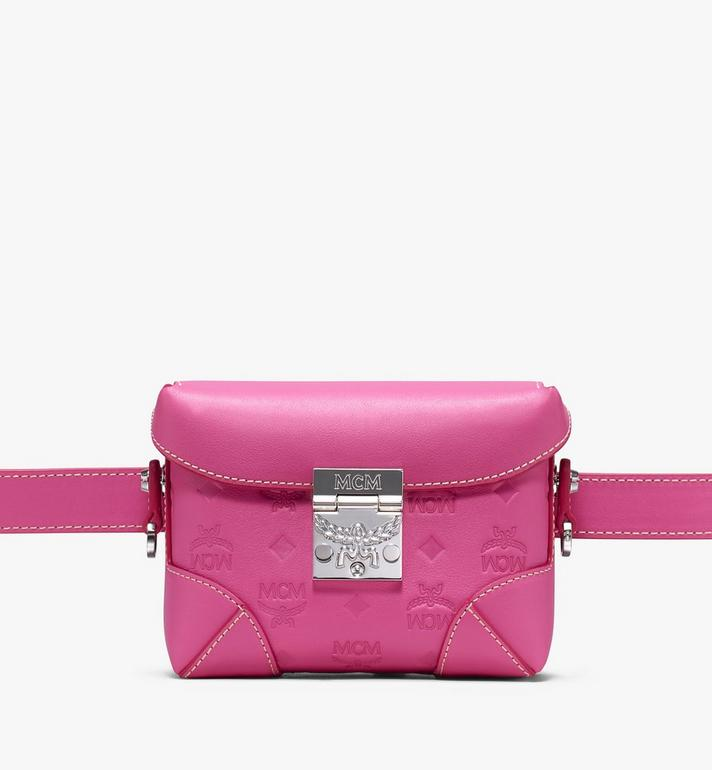 MCM Soft Berlin Belt Bag in Monogram Leather Pink MWZ9ABF26QS001 Alternate View 1