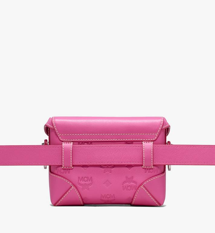 MCM Soft Berlin Belt Bag in Monogram Leather Pink MWZ9ABF26QS001 Alternate View 3