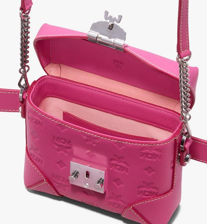 MCM Soft Berlin Belt Bag in Monogram Leather Pink MWZ9ABF26QS001 Alternate View 4