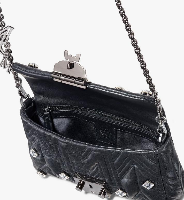 MCM Patricia Belt Bag in Quilted Crystal Leather  MWZ9APA74BK001 Alternate View 4