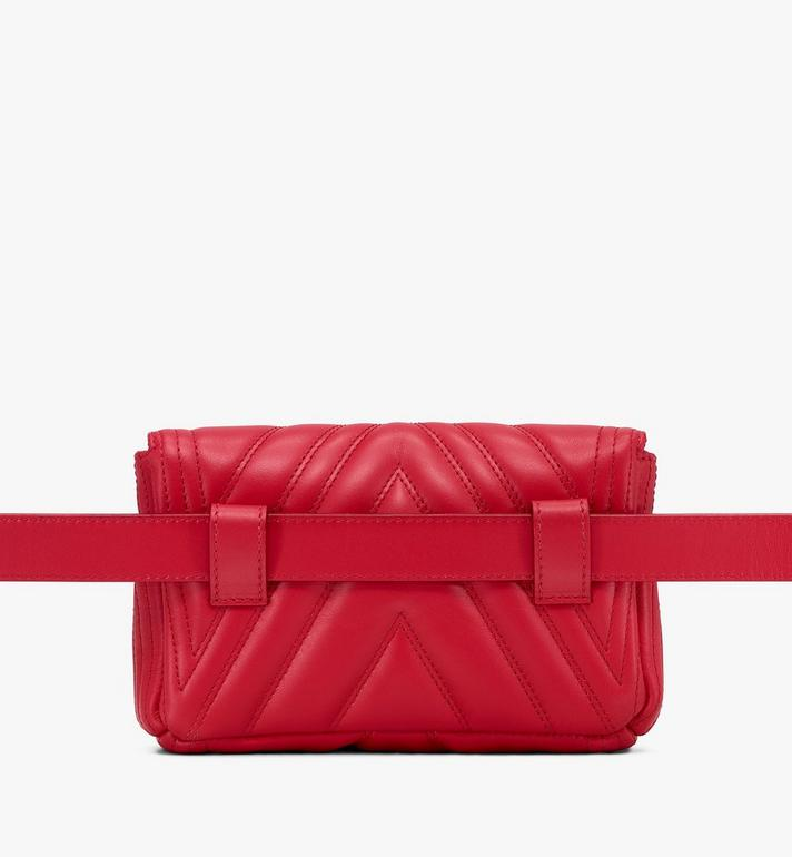 MCM Patricia Belt Bag in Quilted Leather Red MWZ9APA83RU001 Alternate View 3