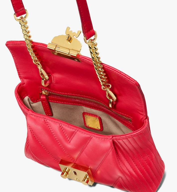MCM Patricia Belt Bag in Quilted Leather Red MWZ9APA83RU001 Alternate View 4