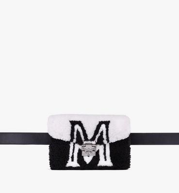 Patricia Belt Bag in Contrast Logo Shearling