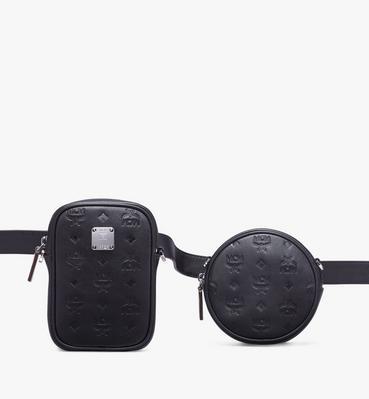 Essential 經典印花皮革腰包