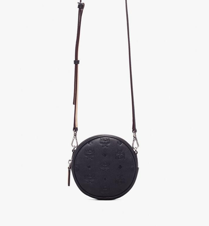 MCM Essential Belt Bag in Monogram Leather Black MWZ9ASE10BK001 Alternate View 3