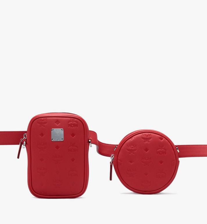 MCM Pochette de ceinture Essential en cuir monogrammé Alternate View