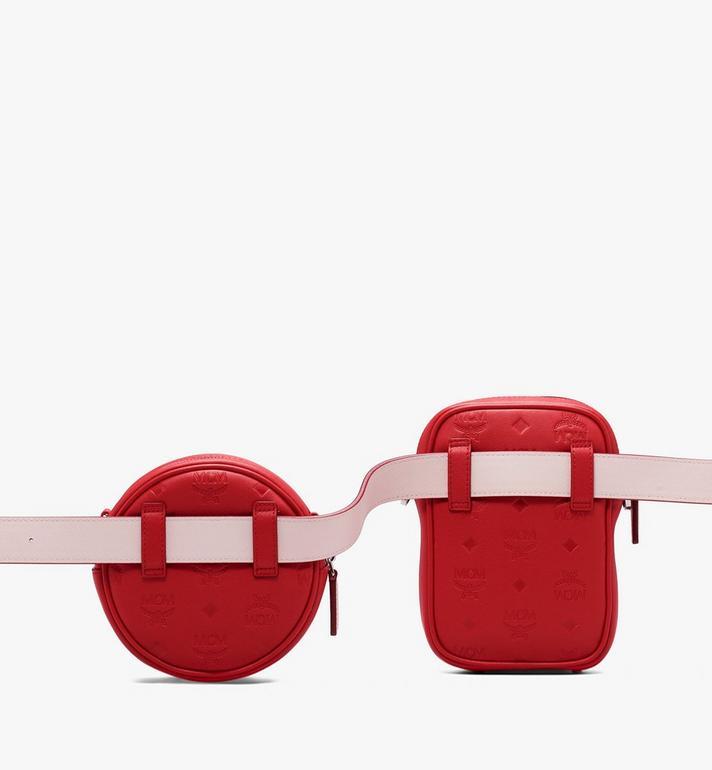 MCM Pochette de ceinture Essential en cuir monogrammé  MWZ9ASE10RJ001 Alternate View 4