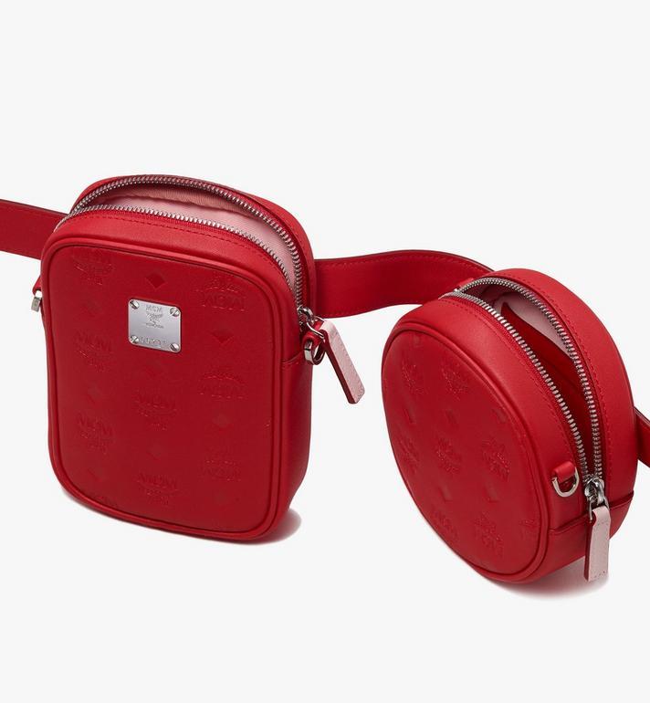 MCM Pochette de ceinture Essential en cuir monogrammé  MWZ9ASE10RJ001 Alternate View 5