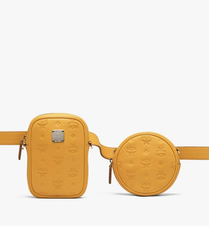 MCM Essential Belt Bag in Monogram Leather Yellow MWZ9ASE10YJ001 Alternate View 1