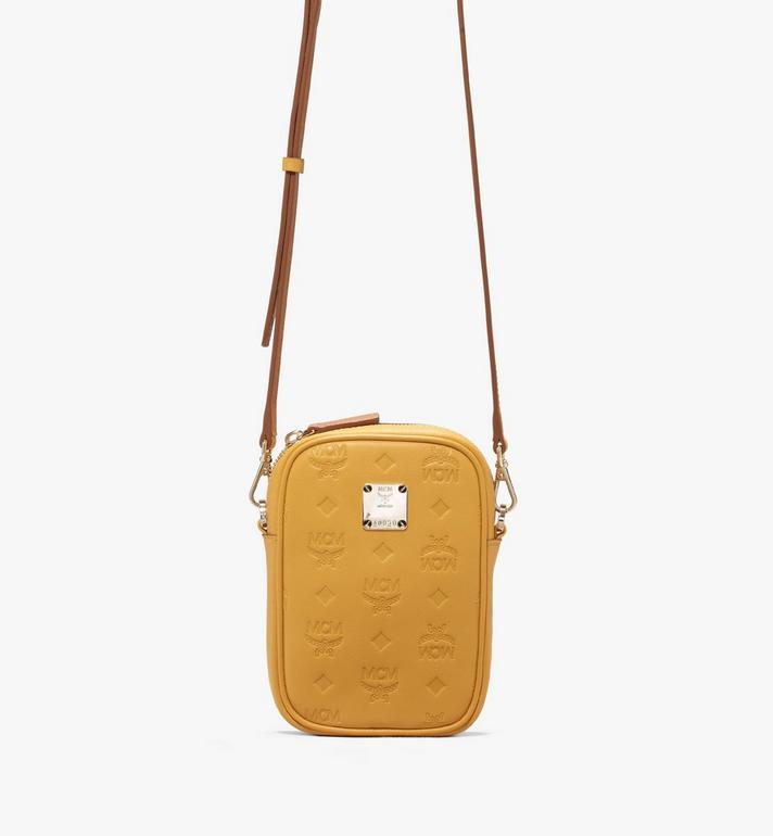 MCM Essential Belt Bag in Monogram Leather Yellow MWZ9ASE10YJ001 Alternate View 4