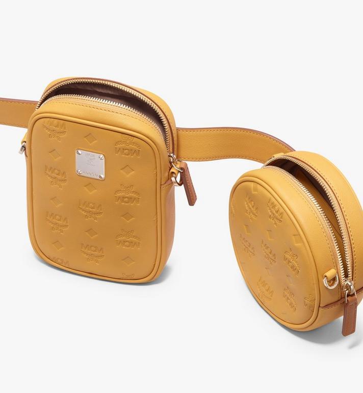 MCM Pochette de ceinture Essential en cuir monogrammé  MWZ9ASE10YJ001 Alternate View 5