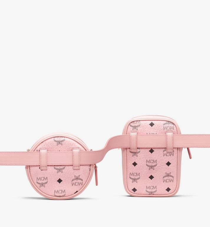 MCM Essential Belt Bag in Visetos Pink MWZ9ASE60PZ001 Alternate View 2