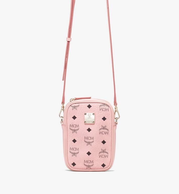 MCM Essential Belt Bag in Visetos Pink MWZ9ASE60PZ001 Alternate View 4