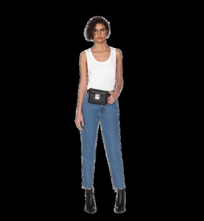 MCM Soft Berlin Belt Bag in Monogram Leather Black MWZ9SBF26BK001 Alternate View 6