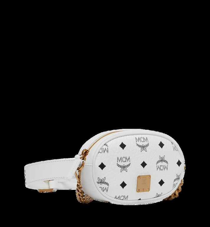 MCM Essential Belt Bag in Original Visetos White MWZ9SSE09WT001 Alternate View 2