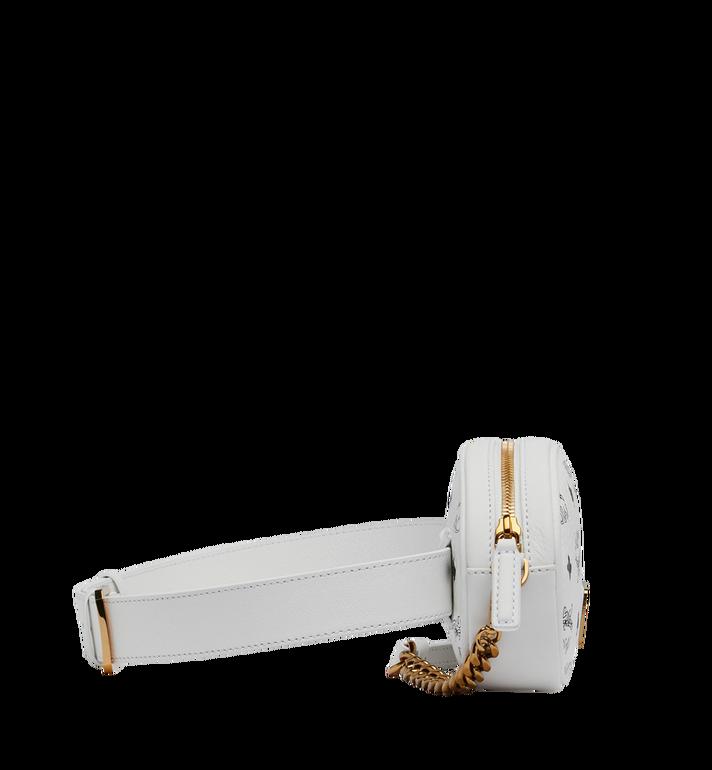 MCM Essential Belt Bag in Original Visetos White MWZ9SSE09WT001 Alternate View 3