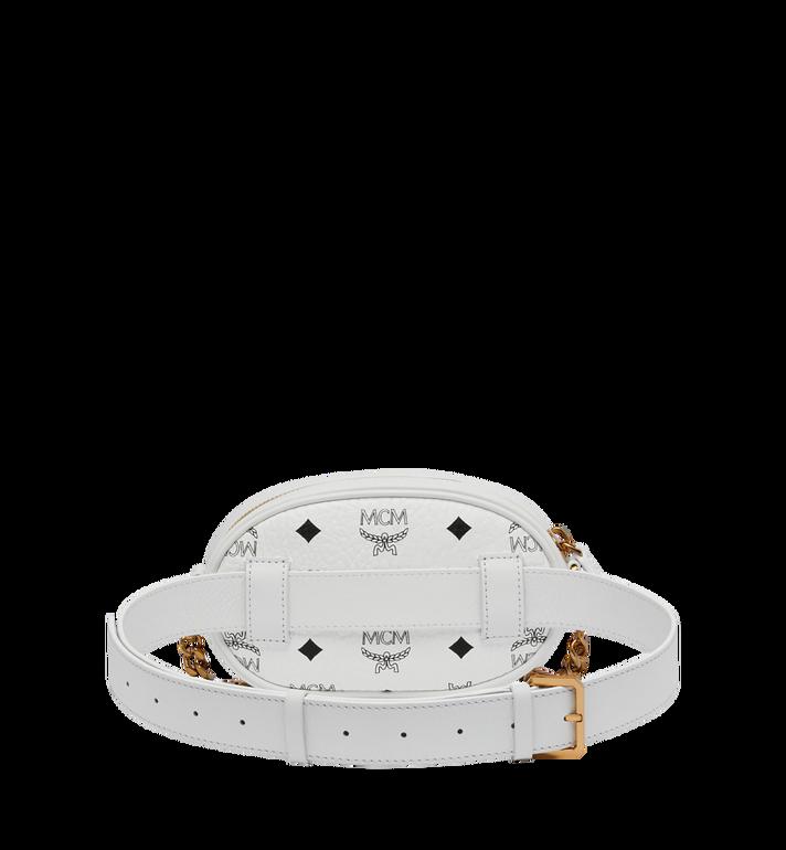 MCM Essential Belt Bag in Original Visetos White MWZ9SSE09WT001 Alternate View 4
