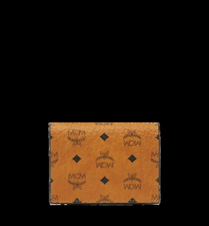 MCM Claus Card Case in Visetos Cognac MXA8SVI20CO001 Alternate View 3