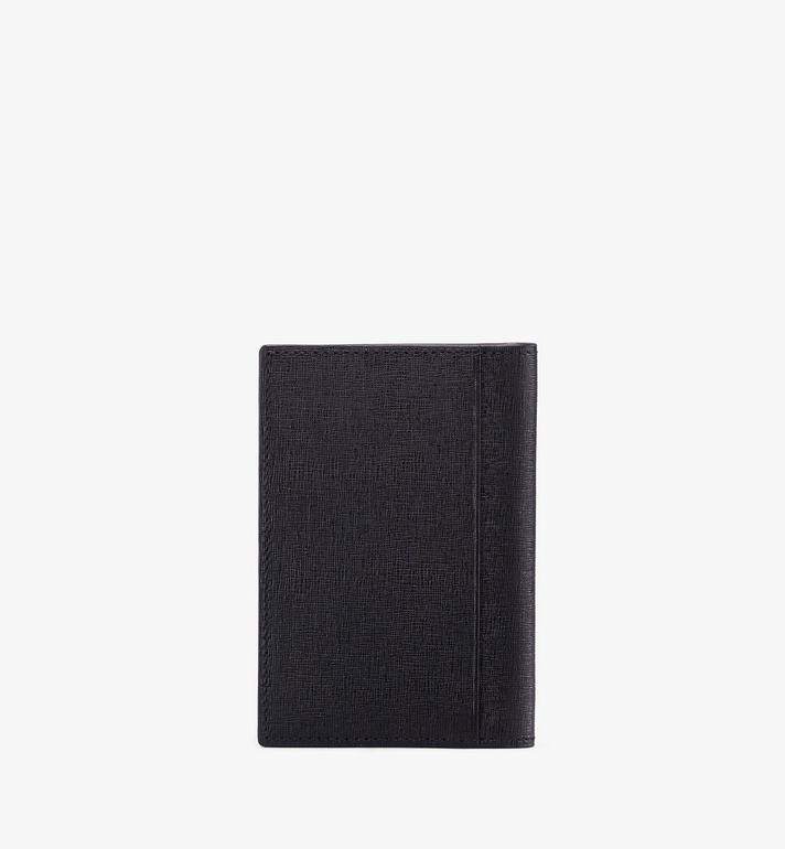 MCM Coburg Two-Fold Wallet in Crossgrain Leather Black MXA9ACE14BK001 Alternate View 2