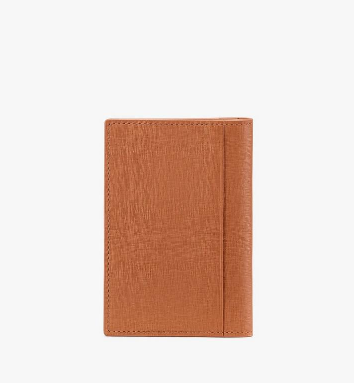MCM Coburg Two-Fold Wallet in Crossgrain Leather Cognac MXA9ACE14CO001 Alternate View 2