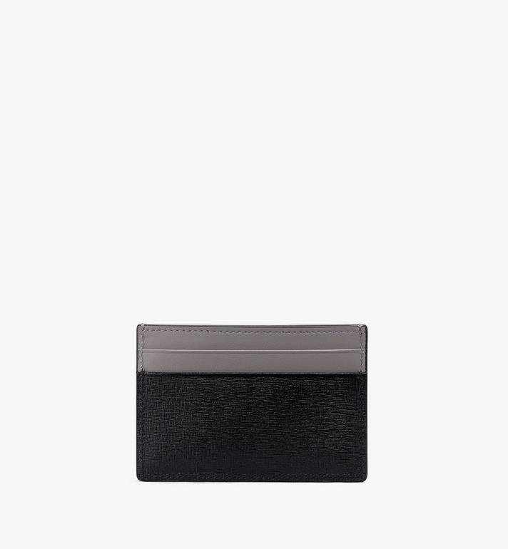 MCM Coburg Card Case in Crossgrain Leather Black MXA9ACE15BK001 Alternate View 2