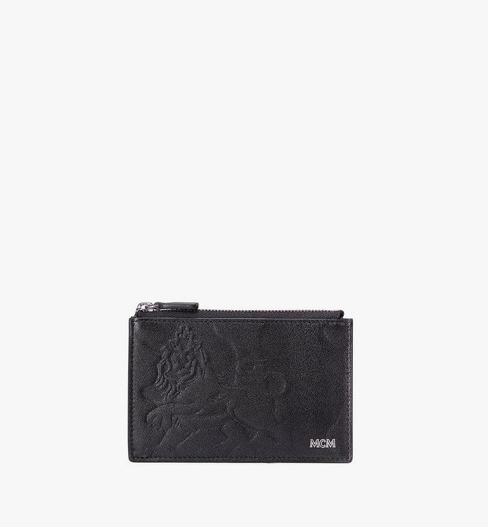 MCM Card Holder in Embossed Lion Camo Alternate View
