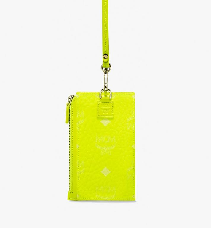 MCM Lanyard Card Holder in Visetos Alternate View 2
