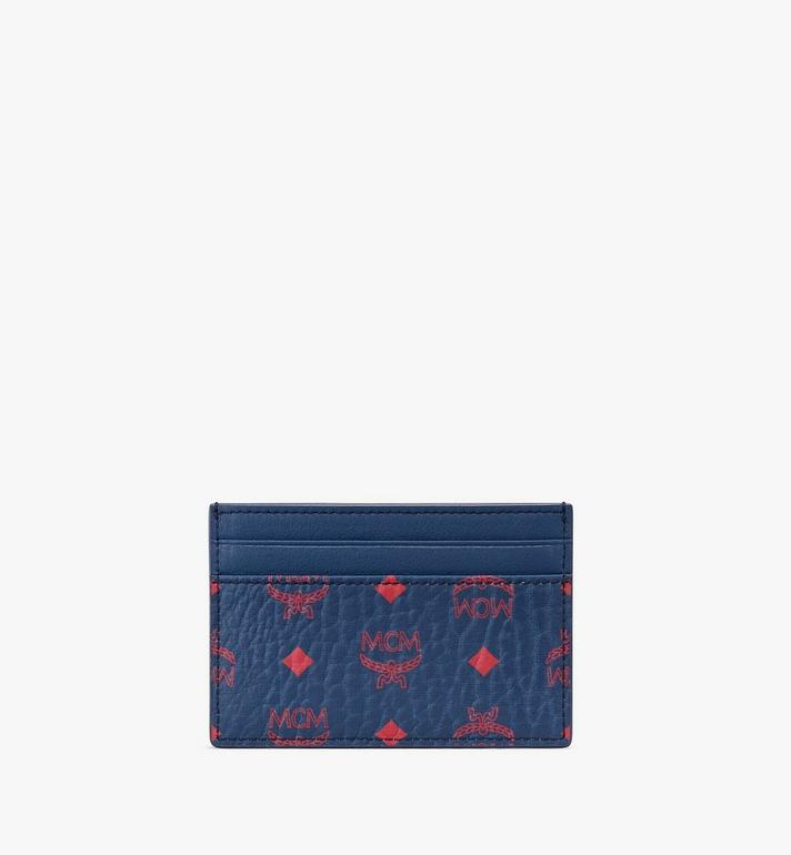 MCM Card Holder in Visetos Blue MXA9AVI42VS001 Alternate View 2