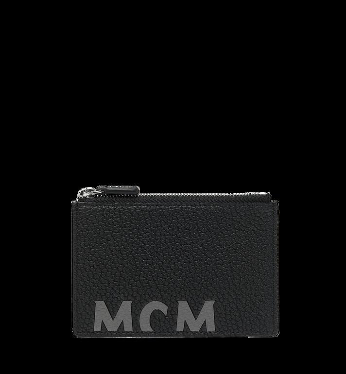 MCM Porte-cartes à fermeture éclair en cuir à logo imprimé Alternate View