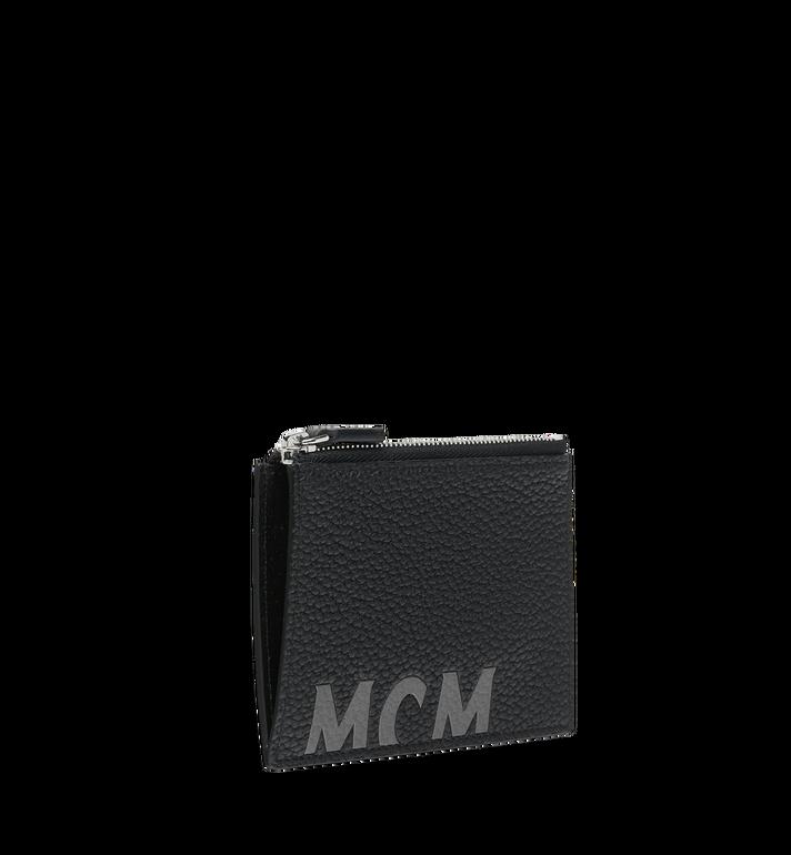 MCM Porte-cartes à fermeture éclair en cuir à logo imprimé Black MXA9SBM05BK001 Alternate View 2