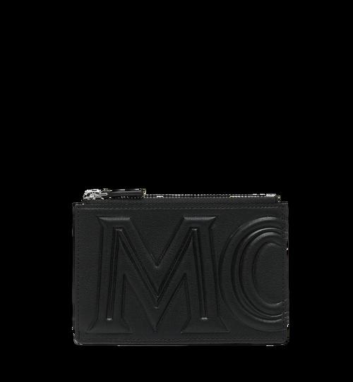 กระเป๋าใส่การ์ดและเหรียญแต่งโลโก้ MCM แบบนูน