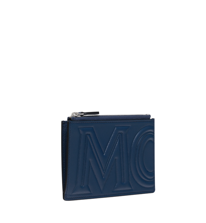 MCM Coin Card Wallet in MCM Injection Logo Navy MXA9SCL04VA001 Alternate View 2