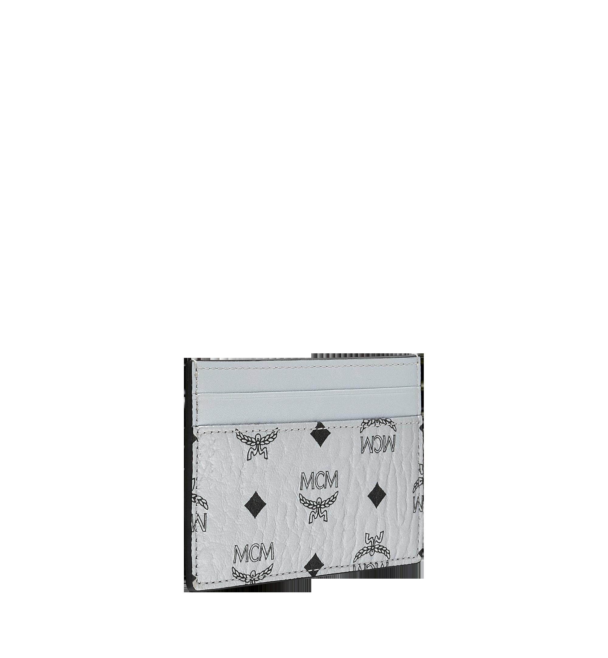 MCM Card Case in Visetos Original Silver MXA9SVI26SB001 Alternate View 2