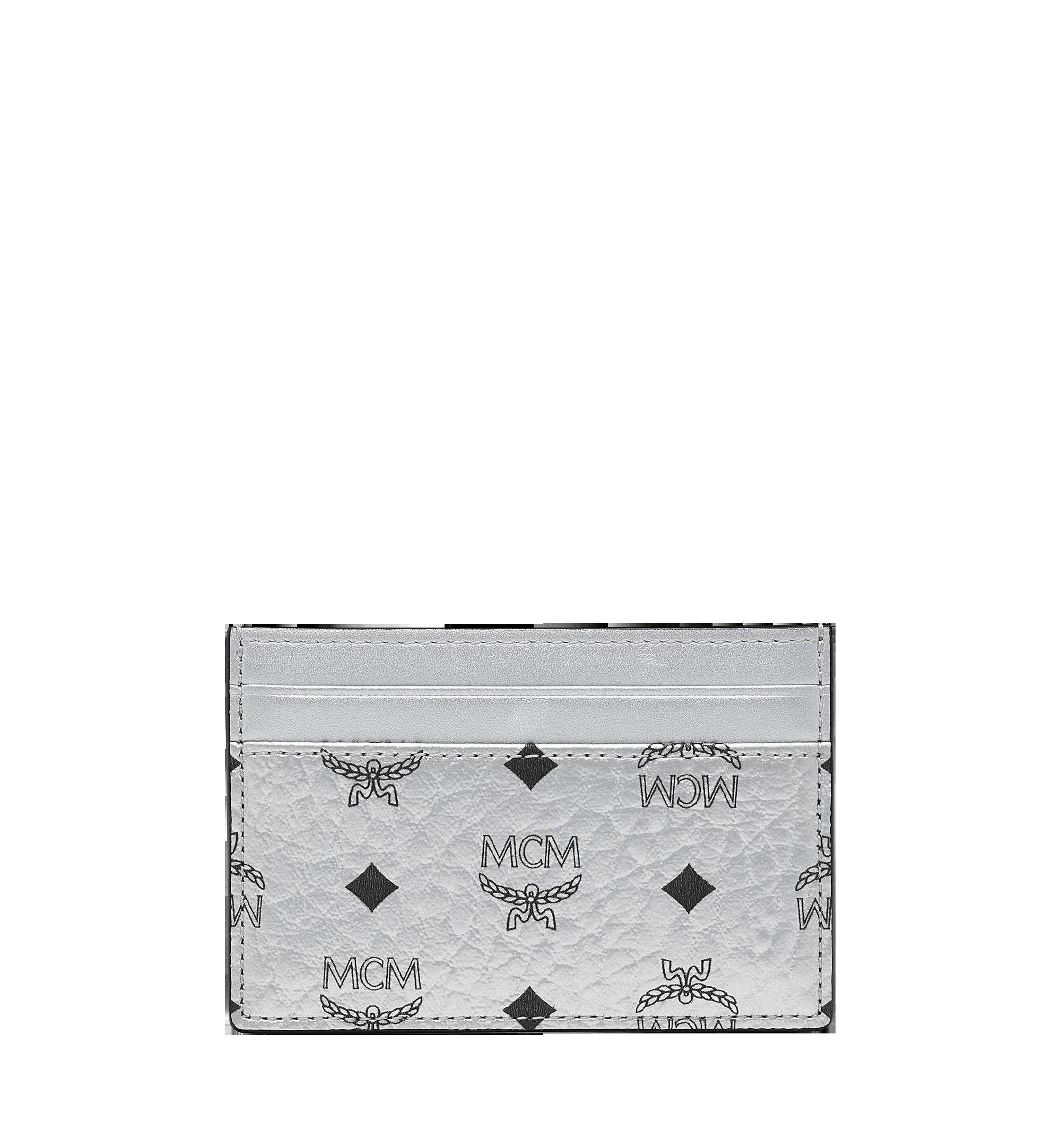 MCM Card Case in Visetos Original Silver MXA9SVI26SB001 Alternate View 3