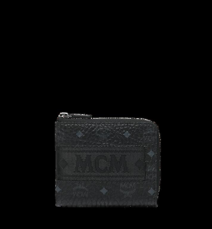 MCM Abgerundete Reissverschluss-Brieftasche in Webbing Visetos Alternate View