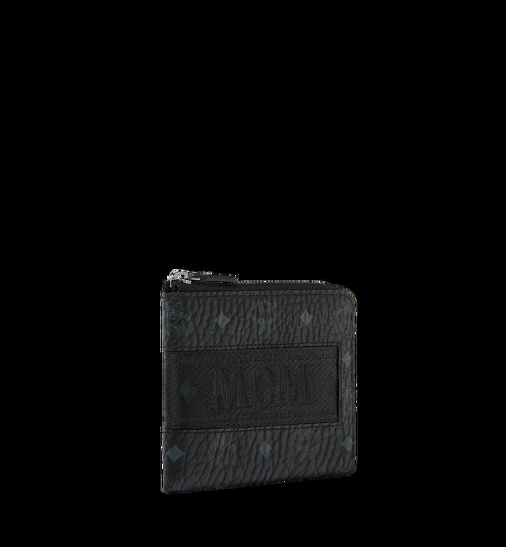 MCM Abgerundete Reissverschluss-Brieftasche in Webbing Visetos Black MXA9SVI91BK001 Alternate View 2
